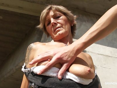 Slutty GILF lets a young man touch something he shouldn't plus she loves locate
