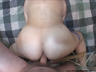 Anal Bubble Butt Mexican Granny Tied And Ball Gagged
