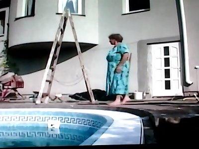 Granny housewife fucks