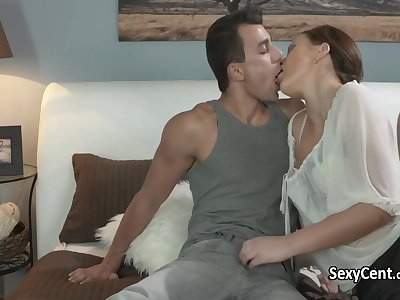 Hot brunette milf ass licked and anal fucked