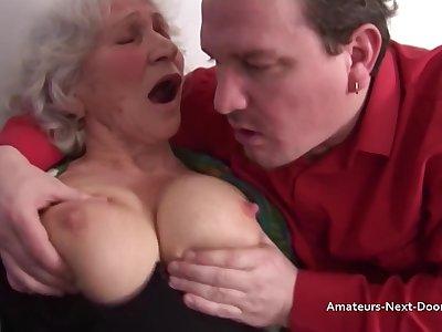 Granny Norma Fucks And Smouldering A Hard Bushwa - ejaculation