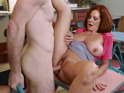 Tight mature enjoys a lot of young cock