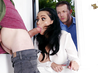 Lustful neighbors fucked hard busty fit together