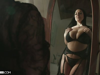 Ample breasted hot wife Angela White thanks say no to husband for sybian