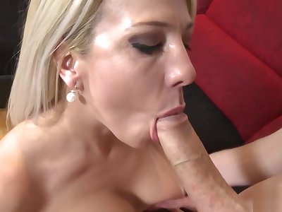 Charming blonde gets fucked in different poses