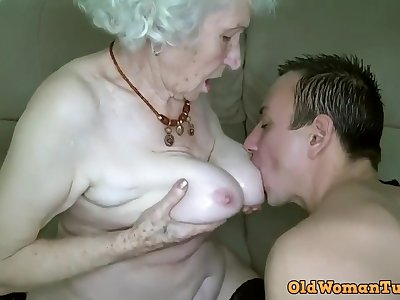 Grandma Xozilla Porn Movies Notability Norma Getting Laid her Schoolboy Toy.