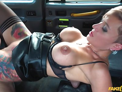Strong fake taxi hardcore experience be advisable for the prexy slut