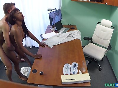 Naked ebony filmed back secret via hard sex with the brush physician