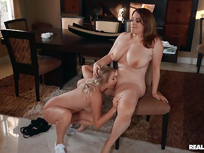 Chubby lesbians love the nourishment friend licking their way pussy and clit
