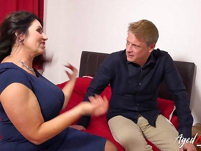 AgedLovE British Mature with Huge Boobs Hardcore