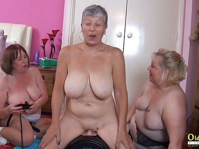 OldNannY Busty British Grown up Lesbian Masturbation
