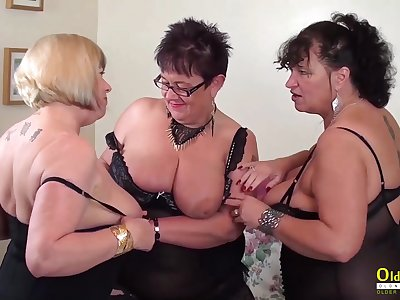 Busty grown up BBWs are ready for some steamy group sexual relations