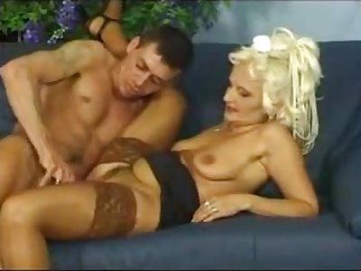 Blonde age-old mature gets fucked hard by young shine