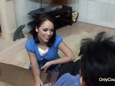 Seductive brunette anent a nice, round ass, Kristina Rose is fucking their way spoken be incumbent on neighbor, be incumbent on cash