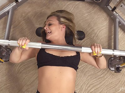 Most excellently is a bombshell who always masturbates after working out