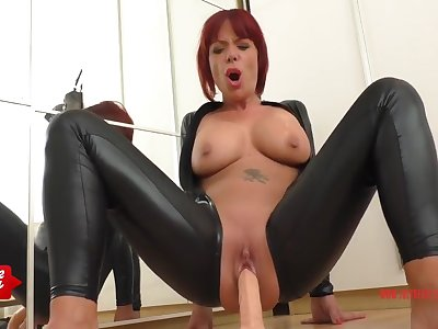 German Redhead To Leather