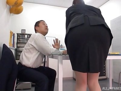 Hot Japanese girl licked less than hammer away table during an seismical activity