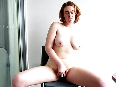 Molly Broad couldn't wait to get naked and masturbate for in a moment