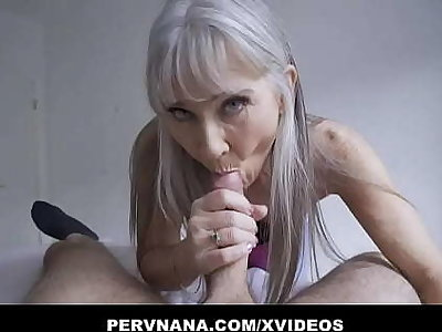 Perv Granny Leilani Lei Gives A Surprising Confer