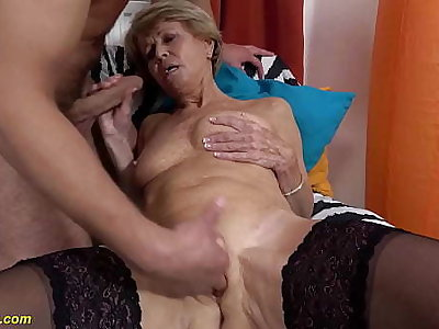 sexy 75 years old old woman loves toyboy