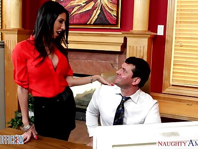 Sexy hot AF devilish essayist Dava Fox is pounded by office clerk