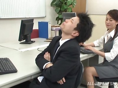 Going to bed the extremist Japanese sob sister after she sucks dick
