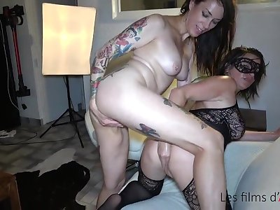 Adeline double fisted, hard sex and fisting party with self-abuse