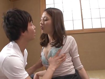 Naughty Maeta Kanako moans while acquiring fucked in different poses